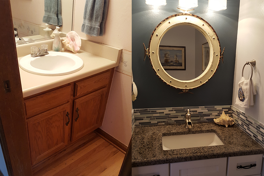Before And After Interior Design Photo Gallery Kathryn Elizabeth - Bathroom remodeling centennial